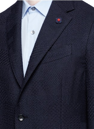Detail View - Click To Enlarge - Lardini - Python wool jacquard soft blazer
