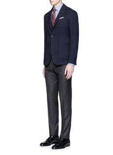 LardiniPython wool jacquard soft blazer