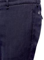 Cotton herringbone pants