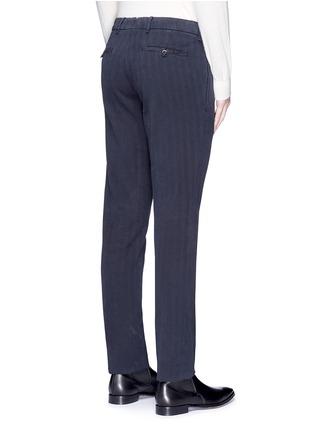 Back View - Click To Enlarge - Lardini - Cotton herringbone pants