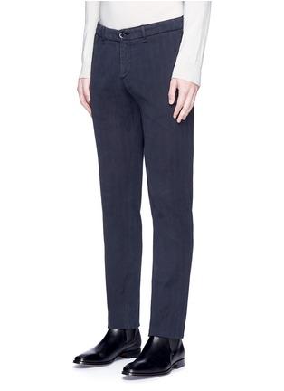 Front View - Click To Enlarge - Lardini - Cotton herringbone pants