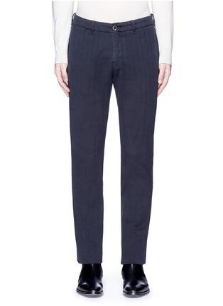 Main View - Click To Enlarge - Lardini - Cotton herringbone pants