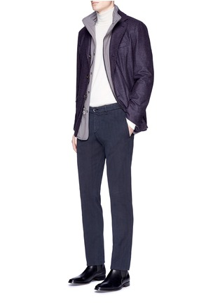 模特儿示范图 - 点击放大 - LARDINI - ICPARIS人字纹棉质长裤