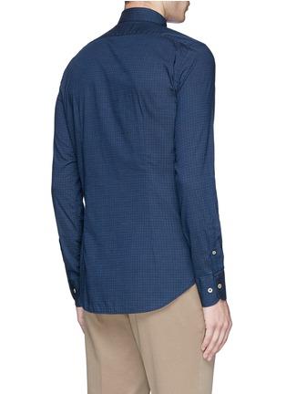 Lardini-Houndstooth print cotton shirt