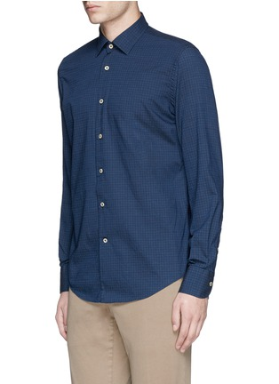 Front View - Click To Enlarge - Lardini - Houndstooth print cotton shirt