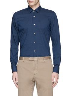 LardiniHoundstooth print cotton shirt