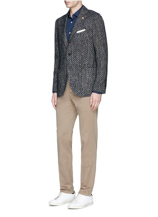 Figure View - Click To Enlarge - Lardini - Houndstooth print cotton shirt