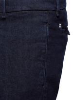 Regular fit cotton denim pants