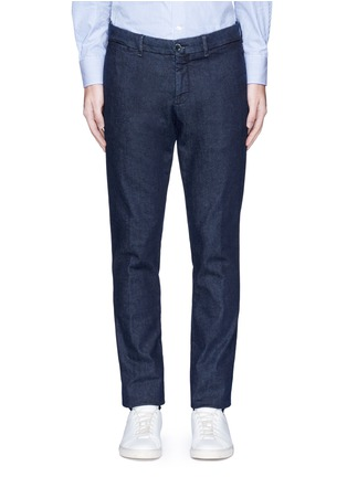 Lardini-Regular fit cotton denim pants