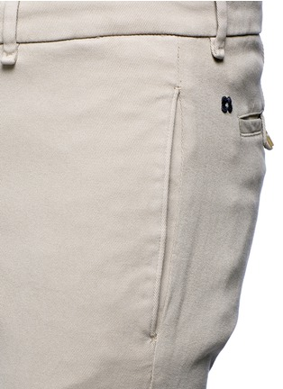 Detail View - Click To Enlarge - Lardini - Slim fit cotton twill chinos