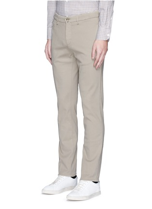 Front View - Click To Enlarge - Lardini - Slim fit cotton twill chinos