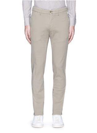 Main View - Click To Enlarge - Lardini - Slim fit cotton twill chinos