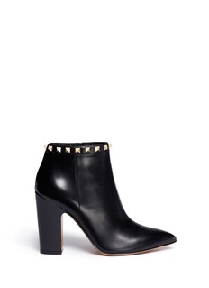 Valentino 'Rockstud' leather zip-up ankle boots