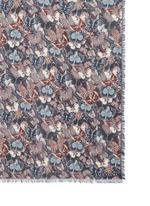 Butterfly frayed modal-cashmere-silk scarf