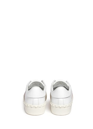 Back View - Click To Enlarge - Valentino - 'Rockstud' colourblock leather sneakers