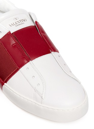 Detail View - Click To Enlarge - Valentino - Colourblock leather slip-on sneakers