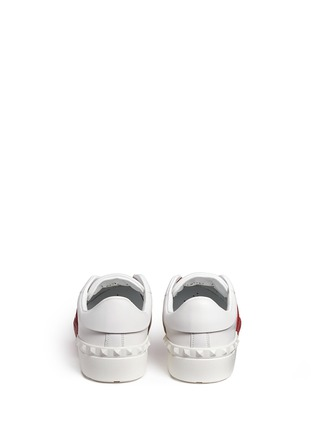 Back View - Click To Enlarge - Valentino - Colourblock leather slip-on sneakers