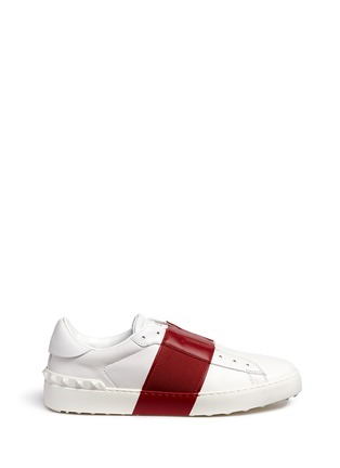 Main View - Click To Enlarge - Valentino - Colourblock leather slip-on sneakers