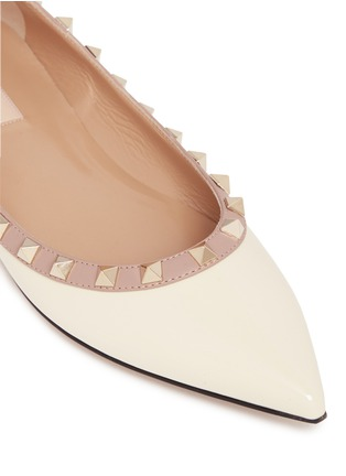 Detail View - Click To Enlarge - Valentino - 'Rockstud' patent leather skimmer flats