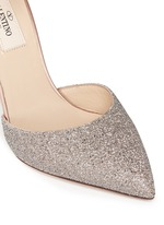 'Love Latch' crystal dust wraparound ankle strap pumps