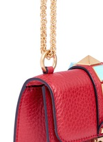 'Rockstud Rolling Lock' mini leather chain shoulder bag