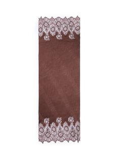 ValentinoFloral lace trim plissé pleat cashmere scarf