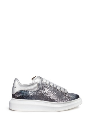 Main View - Click To Enlarge - Alexander McQueen - Chunky outsole coarse glitter metallic leather sneakers