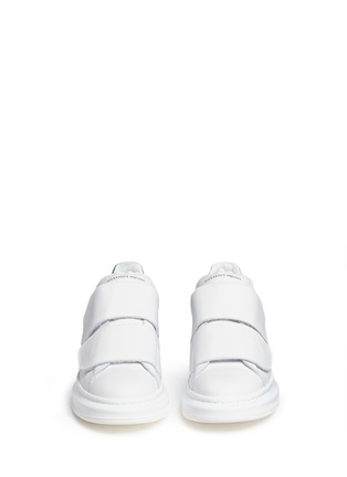 Front View - Click To Enlarge - Alexander McQueen - Chunky outsole suede trim leather sneakers