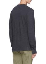 'Classic' garment wash Henley shirt