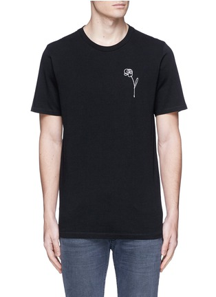 rag & bone - Flower embroidery cotton T-shirt
