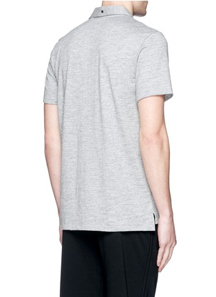 Back View - Click To Enlarge - rag & bone - Standard Issue' cotton blend jersey polo shirt