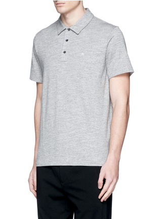 Front View - Click To Enlarge - rag & bone - Standard Issue' cotton blend jersey polo shirt