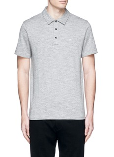 rag & bone Standard Issue' cotton blend jersey polo shirt