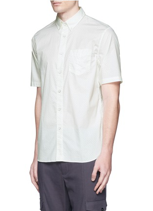 Front View - Click To Enlarge - rag & bone - Neon dot scratched button Oxford shirt