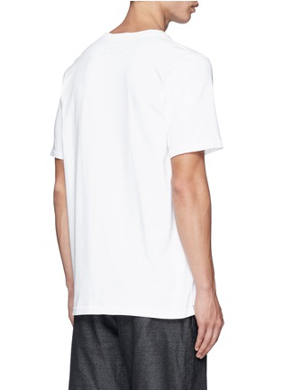 Back View - Click To Enlarge - rag & bone - 'Peace' embroidery T-shirt