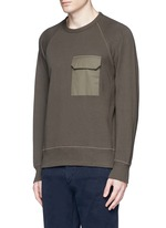 'Aviator' flap pocket sweatshirt