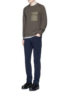 rag & bone'Aviator' flap pocket sweatshirt