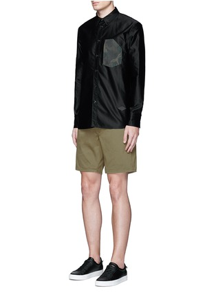 Figure View - Click To Enlarge - rag & bone - Brushed cotton twill shorts