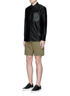 rag & bone Brushed cotton twill shorts