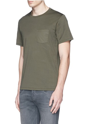 Front View - Click To Enlarge - rag & bone - 'Trooper' contrast pocket jersey T-shirt