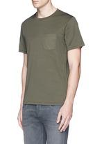 'Trooper' contrast pocket jersey T-shirt