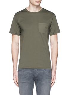 rag & bone'Trooper' contrast pocket jersey T-shirt