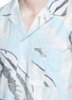 'Kingston' washed out Hawaiian leaf print shirt