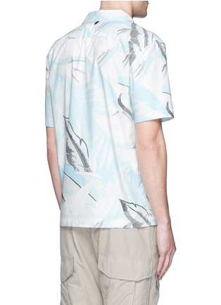 Back View - Click To Enlarge - rag & bone - 'Kingston' washed out Hawaiian leaf print shirt
