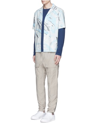 Figure View - Click To Enlarge - rag & bone - 'Kingston' washed out Hawaiian leaf print shirt