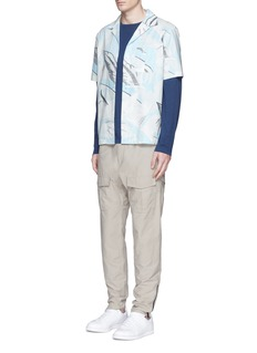 rag & bone 'Kingston' washed out Hawaiian leaf print shirt