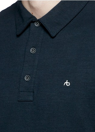 Detail View - Click To Enlarge - rag & bone - 'Standard Issue' cotton blend jersey polo shirt