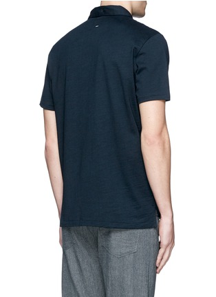 Back View - Click To Enlarge - rag & bone - 'Standard Issue' cotton blend jersey polo shirt