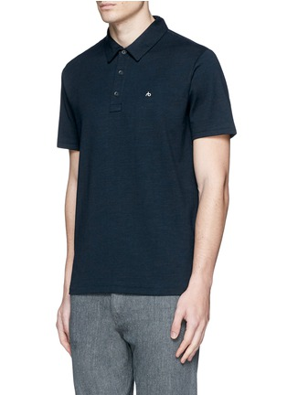 Front View - Click To Enlarge - rag & bone - 'Standard Issue' cotton blend jersey polo shirt