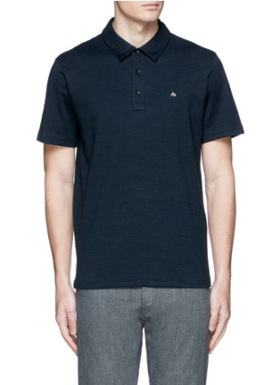 Main View - Click To Enlarge - rag & bone - 'Standard Issue' cotton blend jersey polo shirt